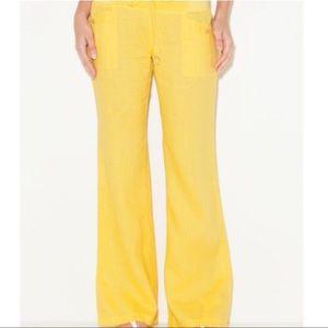 G Guess Yellow Linen Pants